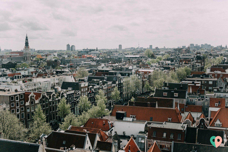 Aussicht von der Oudekerk Amsterdam