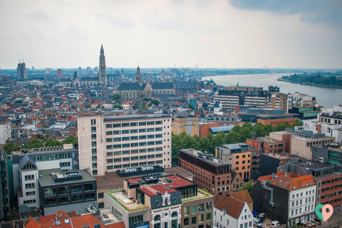 Aussicht vom MAS in Antwerpen