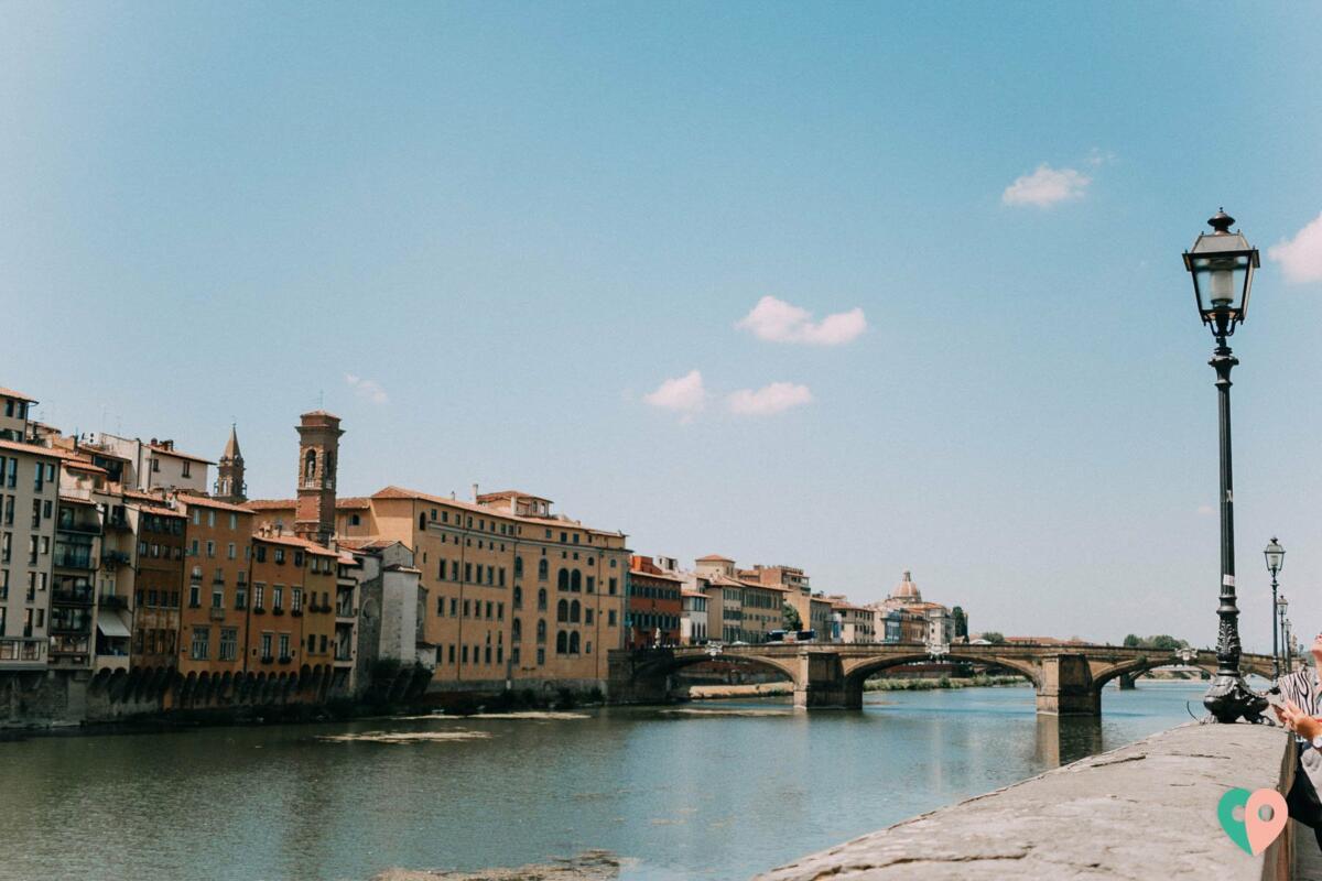 Blick auf den Arno in Florenz