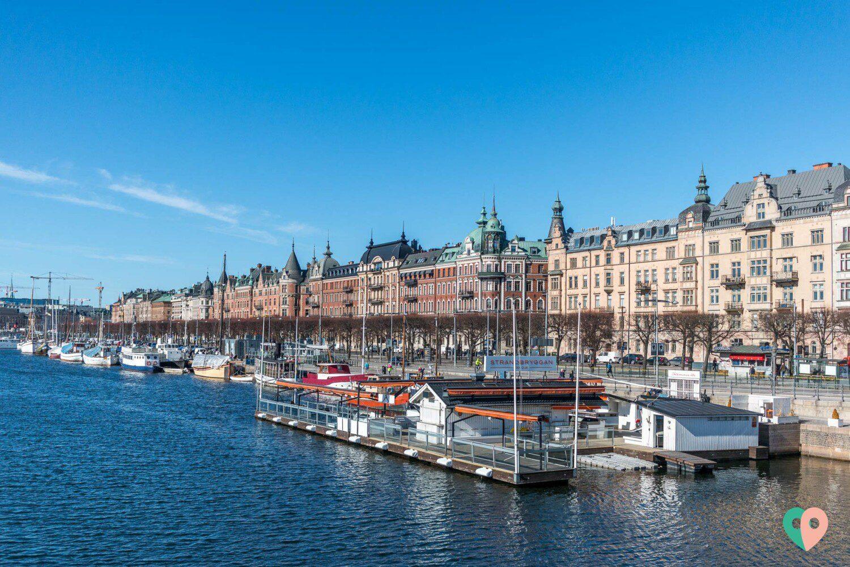 Stockholm - die Aussicht auf Strandvägen