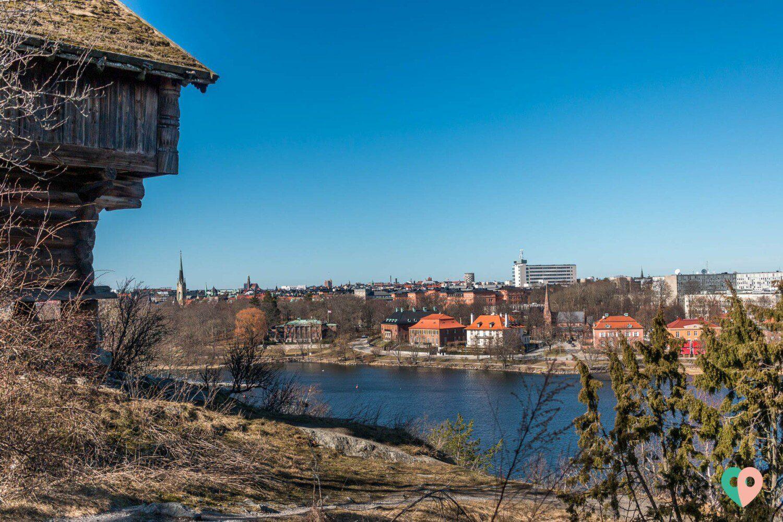 Aussicht auf Stockholm vom Freilichtmuseum Skansen