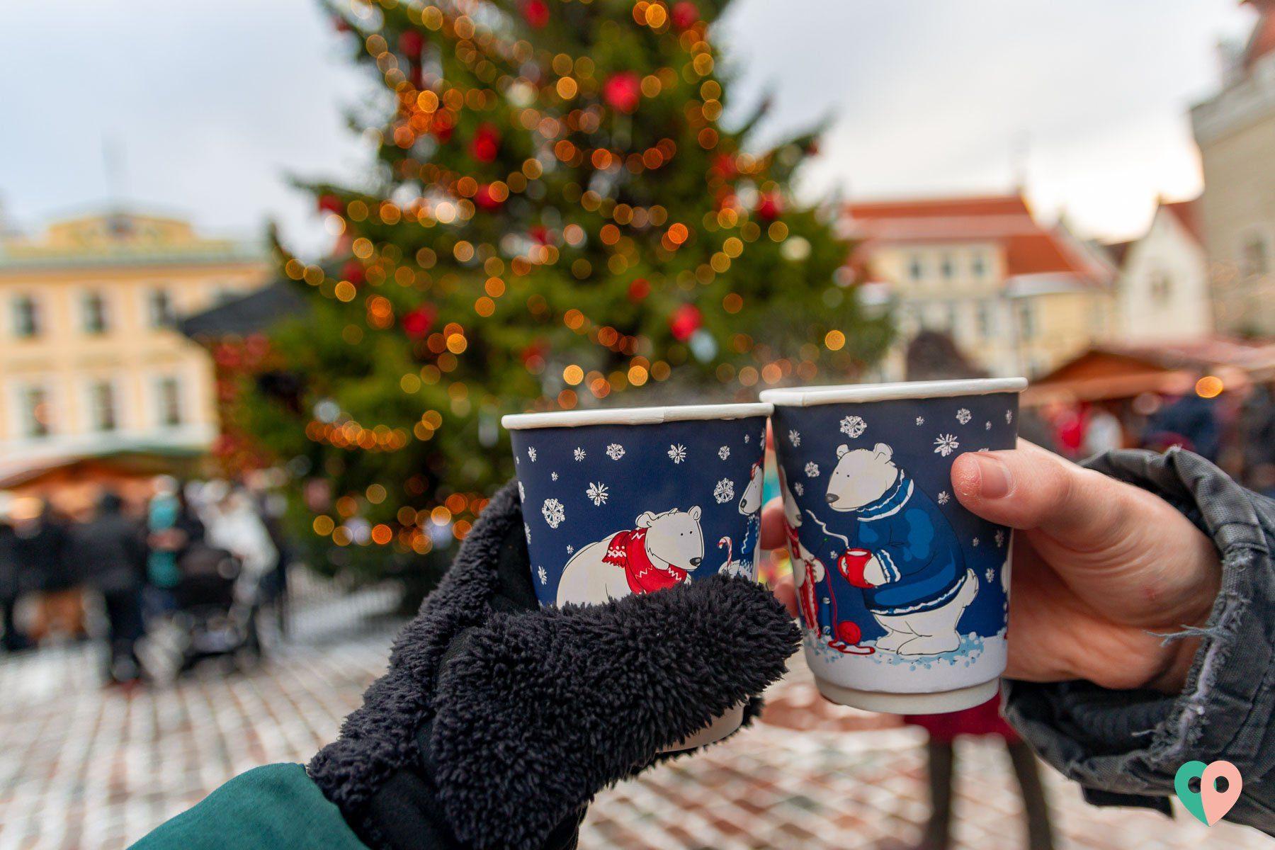 Glögi auf dem Tallinner Weihnachtsmarkt