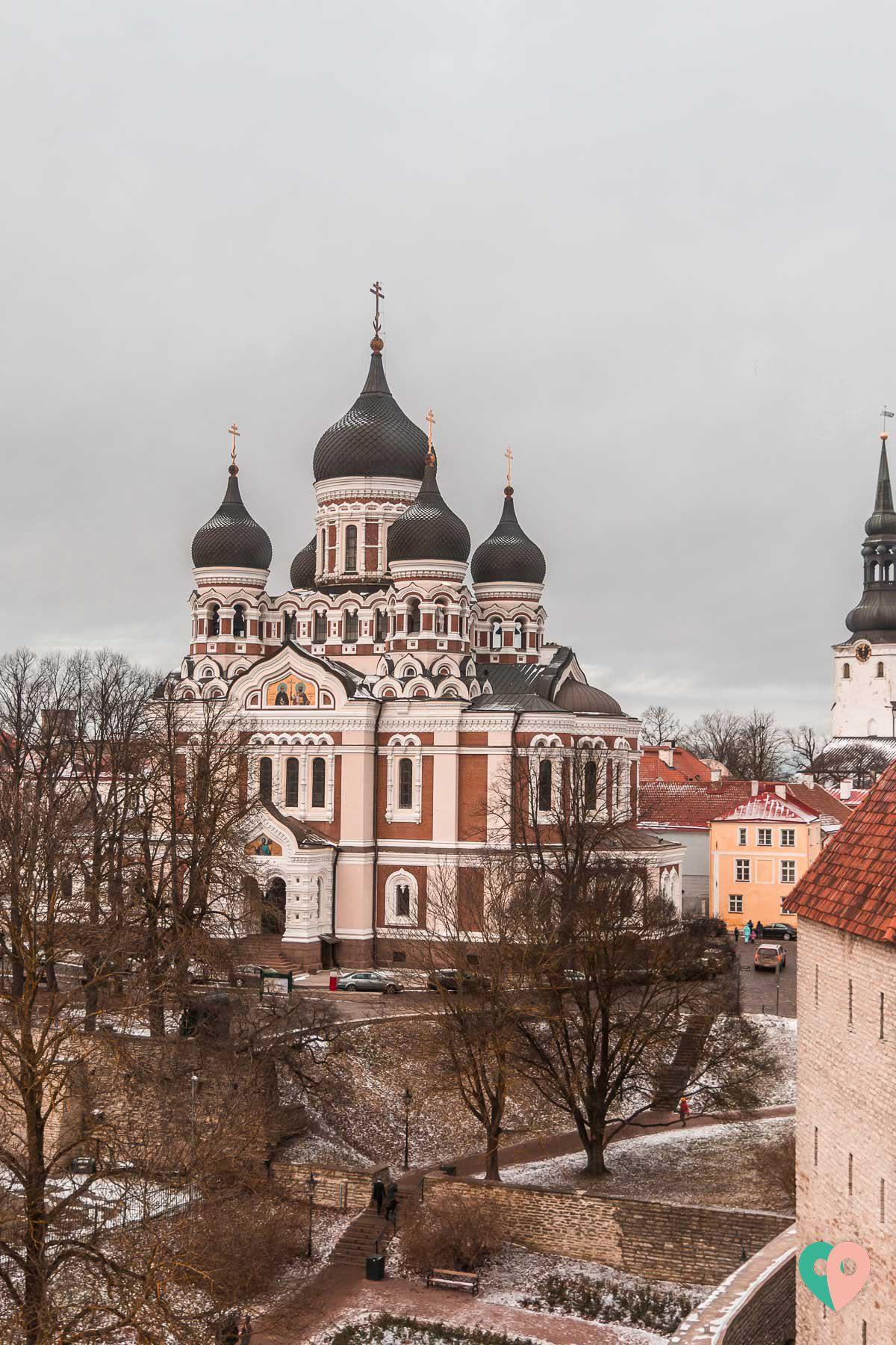 Blick vom Kiek in de Kök-Museum auf die Alexander-Newski-Kathedrale in Tallinn